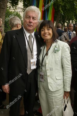 Unveiling Ceremony For the Statue of Nelson Mandela in Parliament Square Ken and Barbara Follett