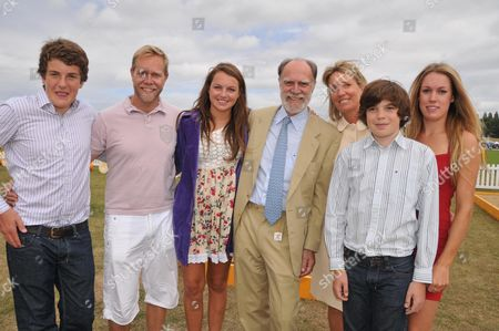 Veuve Clicquot Gold Cup Final at Cowdray Park West Sussex Lord Michael & Lady Marina Cowdary with Their Children Peregrine Sebastian Catrina Emily & Montague