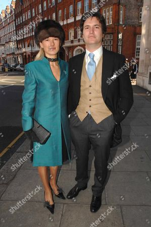 Wedding at St Columbas Church of Scotland Pont Street Knightsbridge Davina Duckworth-chad with Her Husband Tom Barber