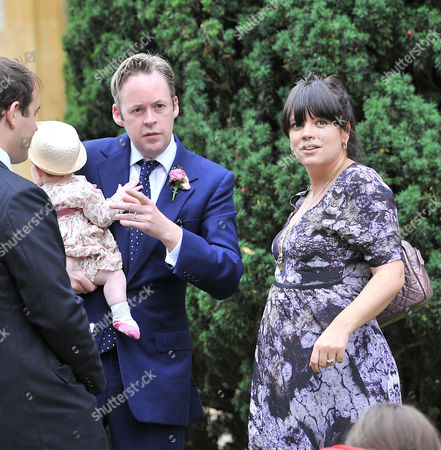 Wedding at the Earl of Wemyss Estate Stanway House Gloucestershire Sam Cooper with His Wife Lily Allen Cooper and Their Daughter Ethel Cooper