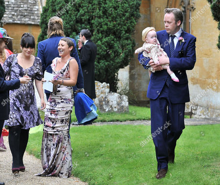 Wedding at the Earl of Wemyss Estate Stanway House Gloucestershire Sam Cooper with His Wife Lily Allen Cooper and Their Daughter Ethel Cooper and Jaime Winstone
