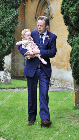 Stock Photo of Wedding at the Earl of Wemyss Estate Stanway House Gloucestershire Sam Cooper with His Daughter Ethel Cooper