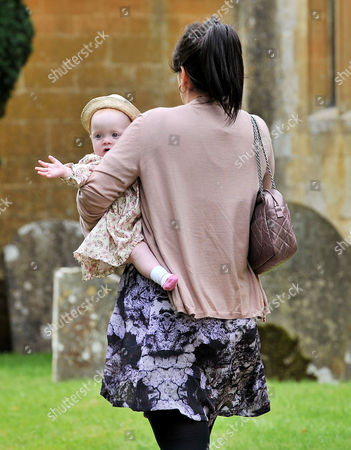Stock Picture of Wedding at the Earl of Wemyss Estate Stanway House Gloucestershire Lily Allen Cooper with Her Daughter Ethel Cooper