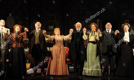 'When We Are Married' Curtain Calls at the Garrick Theatre and After Party at the National Portrait Gallery Cafe Charing Cross Road London Rosemary Ashe Roy Hudd Michele Dotrice Simon Rouse Maureen Lipman Sam Kelly Susie Blake