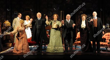 'When We Are Married' Curtain Calls at the Garrick Theatre and After Party at the National Portrait Gallery Cafe Charing Cross Road London Michele Dotrice Simon Rouse Maureen Lipman Sam Kelly Susie Blake & David Horovitch