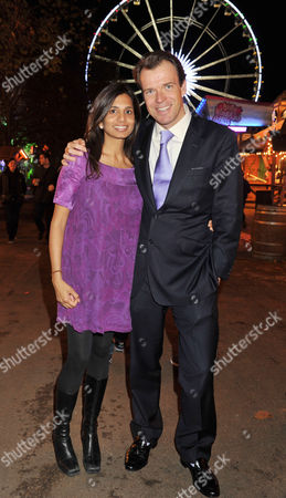 Winter Wonderland Gala in Aid of the Royal Parks Foundation at Hyde Park Joel Cadbury with His Wife Divia Lalvani
