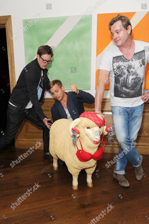 Stock Picture of 'A Few Best Men' Screening at the Soho Hotel Kris Marshall Kevin Bishop and Director Stephan Elliott