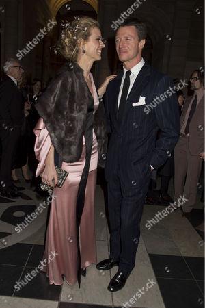 'Alexander Mcqueen: Savage Beauty' Private View at the V&a Eva Herzigova with Her Husband Gregorio Marsiaj