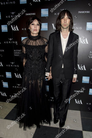 'Alexander Mcqueen: Savage Beauty' Private View at the V&a Bobby Gillespie with His Wife Katy England