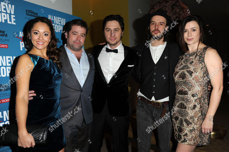 'All New People' Press Night After Party at St Martins Lane Hotel Cast - Susannah Fielding Director Peter Dubois Zach Braff Paul Hilton and Eva Myles