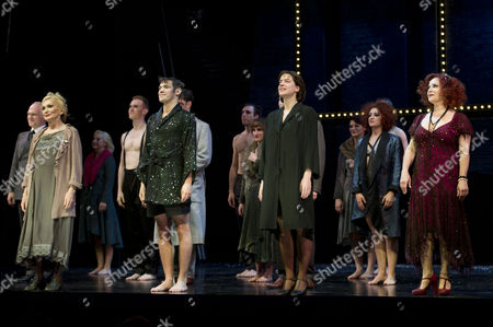 'Cabaret' Press Night Curtain Call at the Savoy Theatre Curtain Call - Sian Phillips Will Young Michelle Ryan and Harriet Thorpe