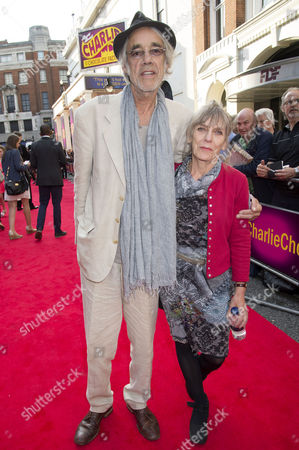 'Charlie and the Chocolate Factory' Press Night at the Theatre Royal Drury Lane Roger Lloyd Pack with His Wife J'ehane Markham