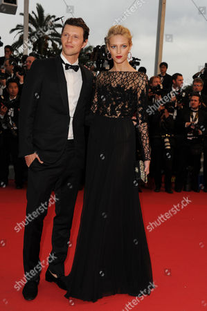'Cosmopolis' Red Carpet at Palais Des Festivals During the 65th Cannes Film Festival Sasha Knezevic and Anja Rubik