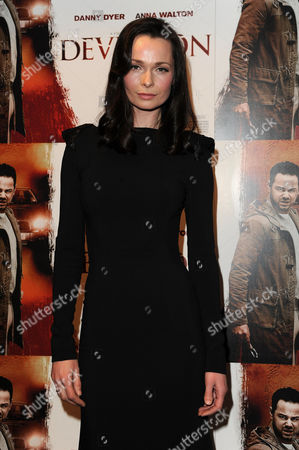 Stock Image of 'Deviation' Uk Premiere at Odeon Covent Garden Anna Walton