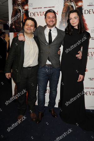 Stock Photo of 'Deviation' Uk Premiere at Odeon Covent Garden Director J K Amalou Danny Dyer and Anna Walton