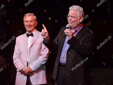 'Dreamboats and Petticoats' Press Night at the Playhouse Theatre Charing Cross Curtain Call - Des O'connor and Bill Kenwright