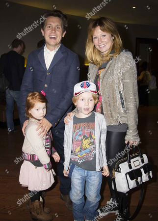 Stock Picture of 'Epic' Gala Film Screening at the Vue Westend Leicester Square Mark Owen with His Wife Emma Ferguson and Children Elwood and Willow