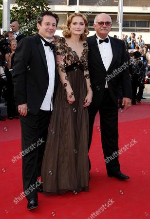 'Exodus Burnt by the Sun 2' Red Carpet at the Festival De Palais During the 63rd Cannes Film Festival Oleg Menshikov Nadezhda Mihalkova and Nikita Mikhalkov