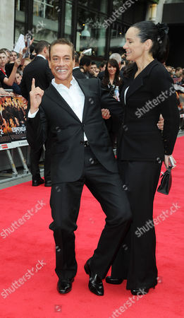 'Expendables 2' Premiere at the Empire Leicester Square Jean-claude Van Damme with His Wife Gladys Portugues