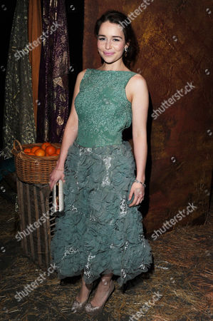 Stock Image of 'Game of Thrones' Dvd Launch Party at the Old Vic Tunnels Waterloo Emelia Clarke