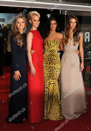 'Girl with the Dragon Tattoo' World Premiere at the Odeon Leicester Square Fanfair - Roberta Howett Aimee Kearsley Anara Atanes and Jessica Martin