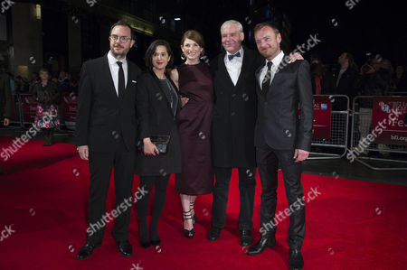 Stock Picture of 'Good Vibrations' Screening at the Odeon Westend During the 56th Bfi London Film Festival Directors Glenn Leyburn and Lisa Barros D'sa Jodie Whittaker Terri Hooley and Richard Dormer