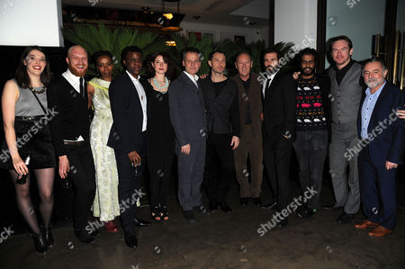 'Henry V' Press Night Afterparty at the National Portrait Gallery Cafe Maddie Rice Harry Attwell Noma Dumezweni Ashley Zhangazha Jessie Buckley Michael Grandage Jude Law Richard Clifford Matt Ryan and Prasanna Puwanarajah and Ron Cook