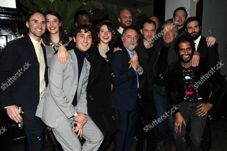 'Henry V' Press Night Afterparty at the National Portrait Gallery Cafe Maddie Rice Ashley Zhangazha Edward Harrison Jessie Buckley Michael Grandage Jude Law Richard Clifford Matt Ryan and Prasanna Puwanarajah and Ron Cook