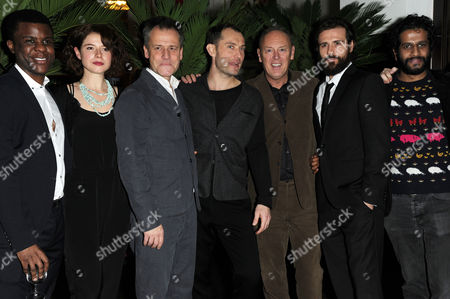Stock Image of 'Henry V' Press Night Afterparty at the National Portrait Gallery Cafe Ashley Zhangazha Jessie Buckley Michael Grandage Jude Law Richard Clifford Matt Ryan and Prasanna Puwanarajah