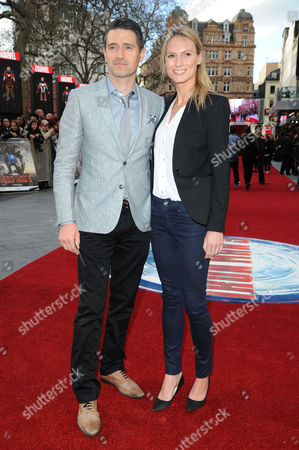 'Iron Man 3' Premiere at the Odeon Leicester Square Tom Chambers with His Wife Clare Harding
