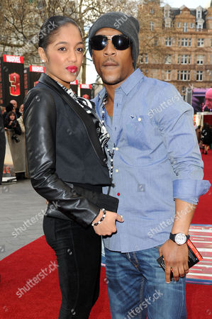 'Iron Man 3' Premiere at the Odeon Leicester Square Ashley Walters with His Girlfriend Natalie Williams
