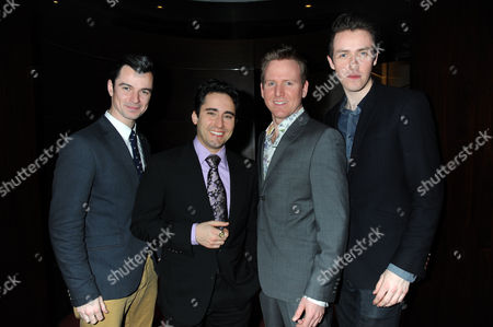 'Jersey Boys' Gala Night to Celebrate New Cast and Theatre at the Piccadilly Theatre Cast - Edd Post John Lloyd-young Jon Boydon and Matt Nalton