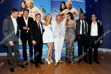 Stock Image of 'Keith Lemon the Film' World Premiere at the Odeon Cinema Leicester Square David Hasselhoff Kevin Bishop Laura Aikman Leigh Francis Kelly Brook Director Paul Angunawela and Producer Guy Avshalom