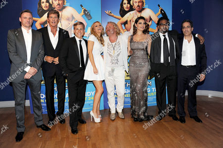 'Keith Lemon the Film' World Premiere at the Odeon Cinema Leicester Square David Hasselhoff Kevin Bishop Laura Aikman Leigh Francis Kelly Brook Director Paul Angunawela and Producer Guy Avshalom