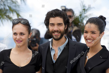 'Le Passe' Photocall at the Palais Des Festivals During the 66th Cannes Film Festival Pauline Burlet Tahar Rahim Sabrina Ouazani