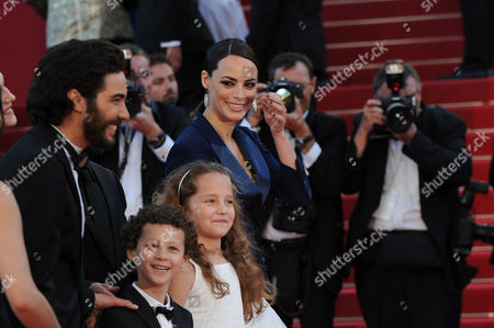 'Le Passe' Red Carpet at the Palais Des Festivals During the 66th Cannes Film Festival Tahar Rahim Berenice Bejo Jeanne Jestin and Elyes Aguis