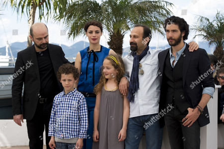 'Le Passe' Photocall at the Palais Des Festivals During the 66th Cannes Film Festival Ali Mosaffa Berenice Bejo Director Asghar Farhadi Tahar Rahim and Jeanne Jestin and Elyes Aguis