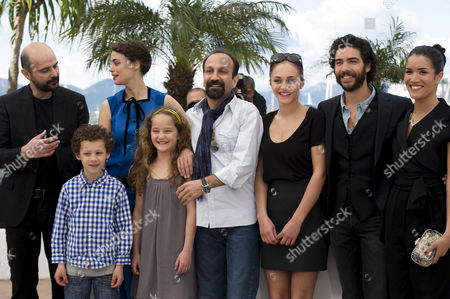 'Le Passe' Photocall at the Palais Des Festivals During the 66th Cannes Film Festival Ali Mosaffa Berenice Bejo Director Asghar Farhadi Pauline Burlet Tahar Rahim Sabrina Ouazani and Jeanne Jestin and Elyes Aguis