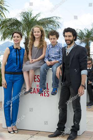 'Le Passe' Photocall at the Palais Des Festivals During the 66th Cannes Film Festival Berenice Bejo and Jeanne Jestin with Tahar Rahim and Elyes Aguis