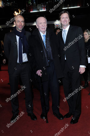 'Les Miserables' World Premiere at the Empire Leicester Square Eric Fellner Herbert Kretzmer and Tom Hooper