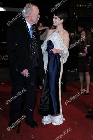 'Les Miserables' World Premiere at the Empire Leicester Square Herbert Kretzmer and Anne Hathaway