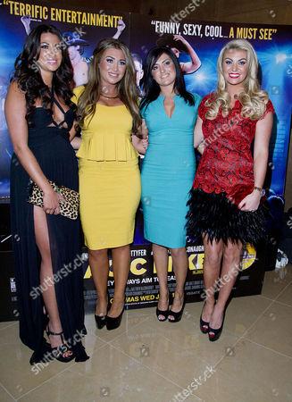 'Magic Mike' European Premiere at the Mayfair Hotel Cara Kilby Lauren Goodger Nicola Goodger and Billi Mucklow