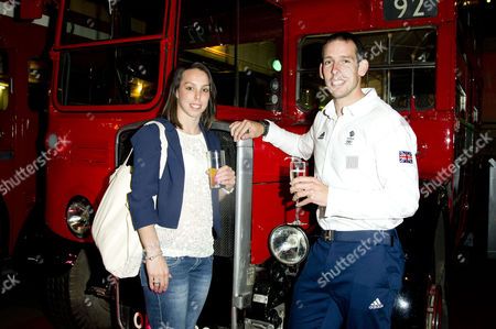 'Mamma Mia' Special Gala Children in Need Performance at the Novello Theatre and After Party at the London Transport Museum Etienne Stott and Beth Tweddle