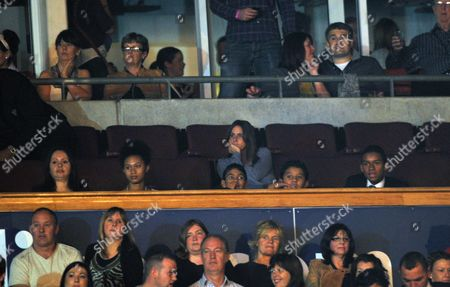 'Michael Forever' Concert at the Millenium Stadium Wales Jaffar and Jermajesty Jackson (jermaine Jackson's Sons Watch the Show