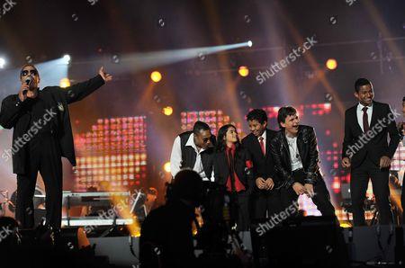 'Michael Forever' Concert at the Millenium Stadium Wales Marlon Jackson Blanket Jackson Prince Jackson Jaffar Jackson Jermajesty Jackson and Paris Jackson