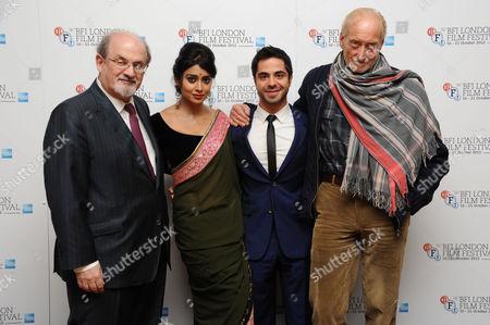 Stock Image of 'Midnight's Children' Screening at the Odeon Westend During the 56th Bfi London Film Festival Salman Rushdie Shriya Saran Satya Bhabha Charles Dance