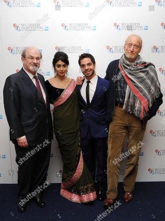Stock Picture of 'Midnight's Children' Screening at the Odeon Westend During the 56th Bfi London Film Festival Salman Rushdie Shriya Saran Satya Bhabha Charles Dance