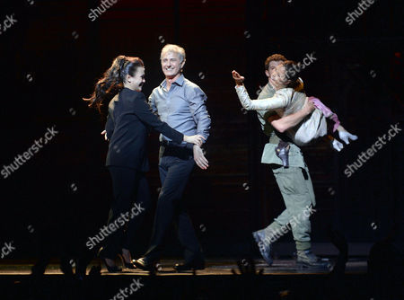 Stock Image of 'Miss Saigon' 25th Anniversary at the Prince Edward Theatre Soho Current and Original Lead Cast - Alistair Brammer and Eva Noblezada with Simon Bowman and Lea Salonga