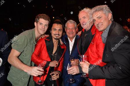 'Miss Saigon' 25th Anniversary at the Prince Edward Theatre Soho Cameron Mackintosh with the Original and Current Engineer Jon Jon Briones and Jonathan Pryce and Billy Alistair Brammer and Simon Bowman