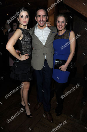 Stock Image of 'Once' Press Night After Party at Waxy's Soho Flora Spencer-longhurst Jez Unwin and Miria Parvin